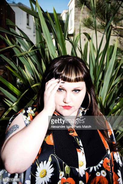 Singer Beth Ditto is photographed for Paris Match on May 31, 2017 in Paris, France.