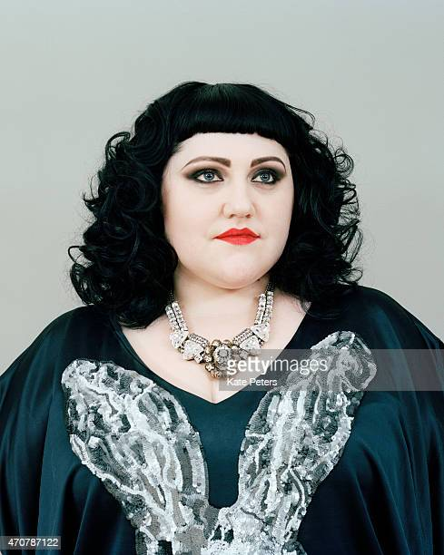 Singer Beth Ditto is photographed for the Telegraph on February 7 2011 in London England