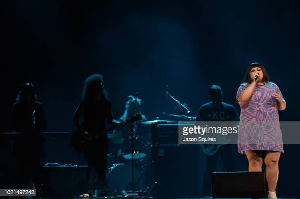 Singer Beth Ditto performs at Sprint Center on August 18 2018 in Kansas City Missouri