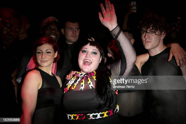 Singer Beth Ditto performs at the Versus Spring/Summer 2013 fashion show as part of Milan Womenswear Fashion Week on September 21 2012 in Milan Italy