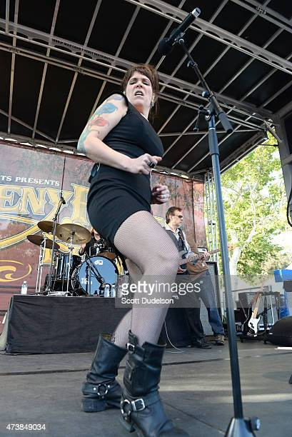 Singer Beth Hart performs onstage at Doheny State Beach on May 17 2015 in Dana Point California