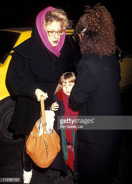 Singer Bette Midler and daughter Sophie von Haselberg attend The Secret Garden Play Performance on December 27 1991 at the St James Theatre in New...