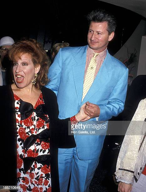 Singer Bette Midler and husband Martin von Haselberg attend the Screening Party for the HBO Special Bette Midler's Mondo Beyondo on March 9 1988 at...