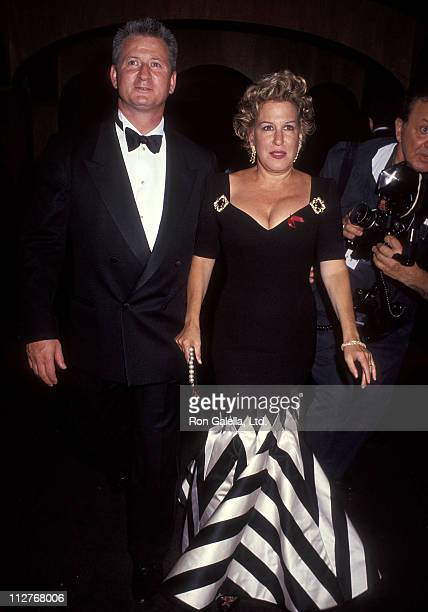 Singer Bette Midler and husband Martin von Haselberg attend the Valentino Thirty Years of Magic Retrospective Gala on September 22 1992 at the 67th...