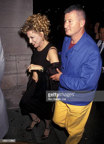 Singer Bette Midler and husband Martin von Haselberg on September 14 1993 leave after Bette Midler's concert Experience the Divine at Radio City...