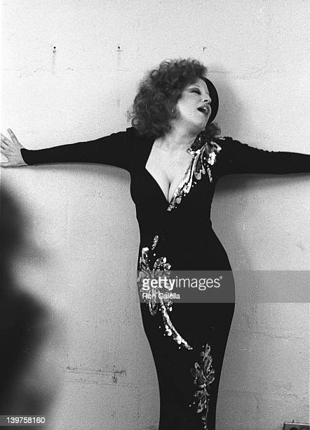 Singer Bette Midler attends 17th Annual Grammy Awards on March 1 1975 at the Uris Theater in New York City