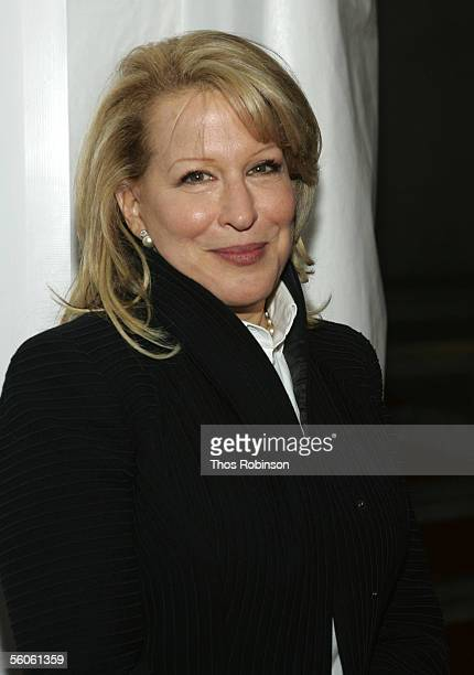 Singer Bette Midler attends the Elton John David Furnish CoChair AIDS Foundation Benefit at Cipriani on November 2 2005 in New York City