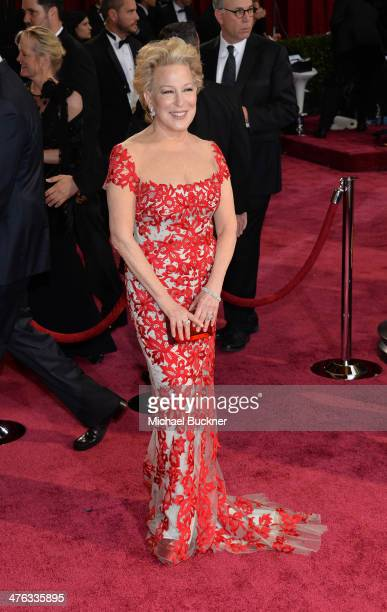Singer Bette Midler attends the Oscars held at Hollywood Highland Center on March 2 2014 in Hollywood California