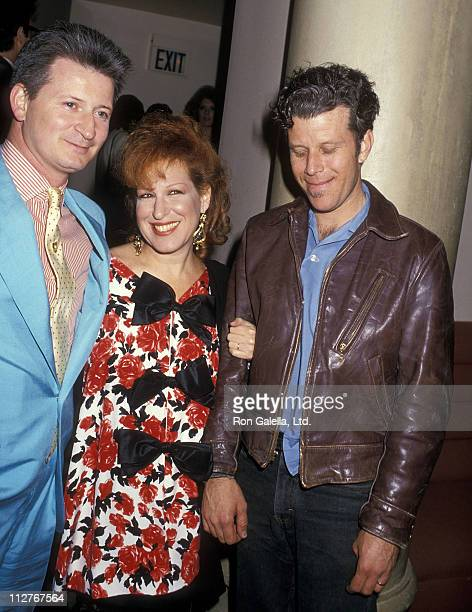 Singer Bette Midler husband Martin von Haselberg and musician Tom Waits attend the Screening Party for the HBO Special Bette Midler's Mondo Beyondo...