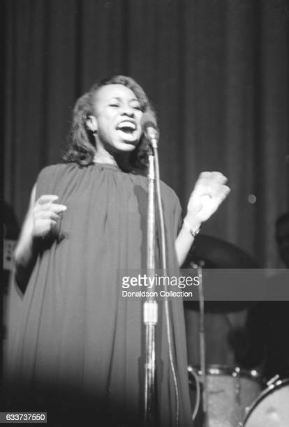 Singer Betty Carter performing at the Apollo Theater in January 1966 in New York New York