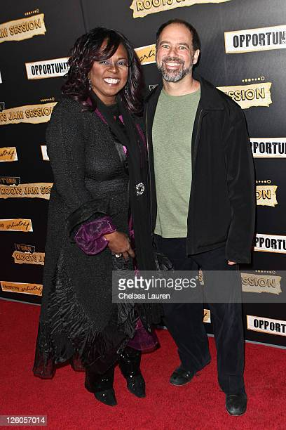 Singer Betty Wright and president of SCurve records Steve Greenberg arrive at the 7th annual Roots Jam Session at the Music Box Theatre on February...