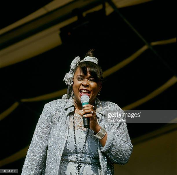 Singer Betty Wright performs on stage at the New Orleans Jazz and Heritage Festival in New Orleans Louisiana on May 072000