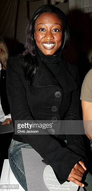 Singer Beverley Knight is seen at the Jasper Conran fashion show as part of London Fashion Week Spring/Summer 2006 at the Royal Academy of Art on...