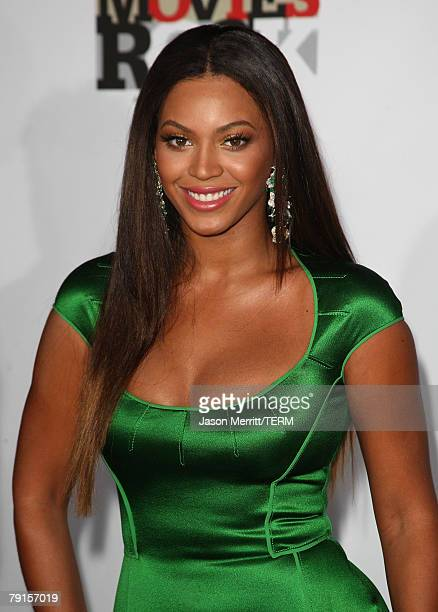 Singer Beyonce arrives at Cond Nast Media Groups 2007 Movies Rock at the Kodak Theater on Decmeber 2 2007 in Hollywood California