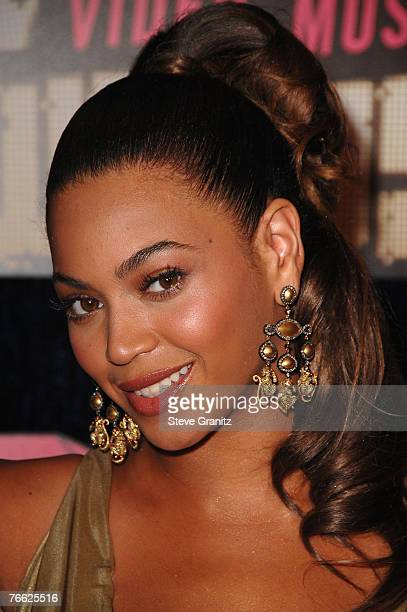 Singer Beyonce arrives at the 2007 Video Music Awards at the Palms Casino Resort on August 9 2007 in Las Vegas Nevada