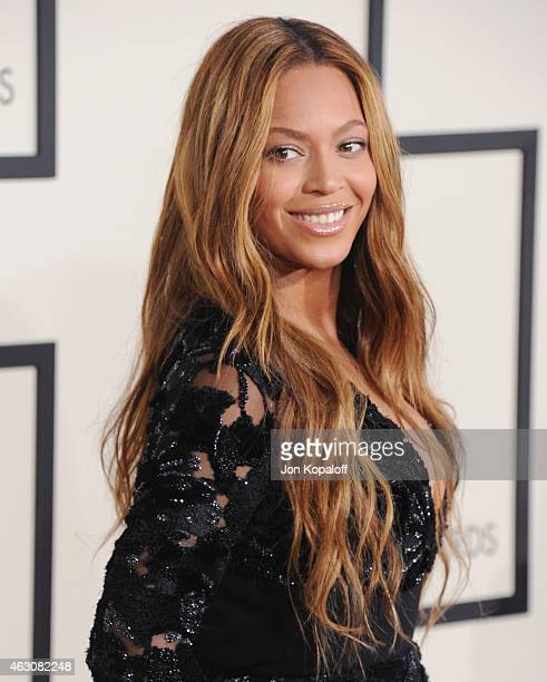 Singer Beyonce arrives at the 57th GRAMMY Awards at Staples Center on February 8 2015 in Los Angeles California