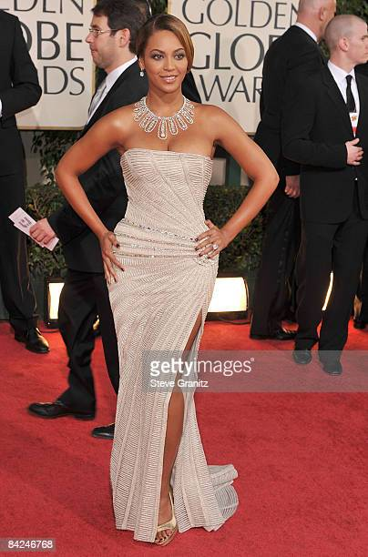 Singer Beyonce arrives at the 66th Annual Golden Globe Awards held at the Beverly Hilton Hotel on January 11 2009 in Beverly Hills California