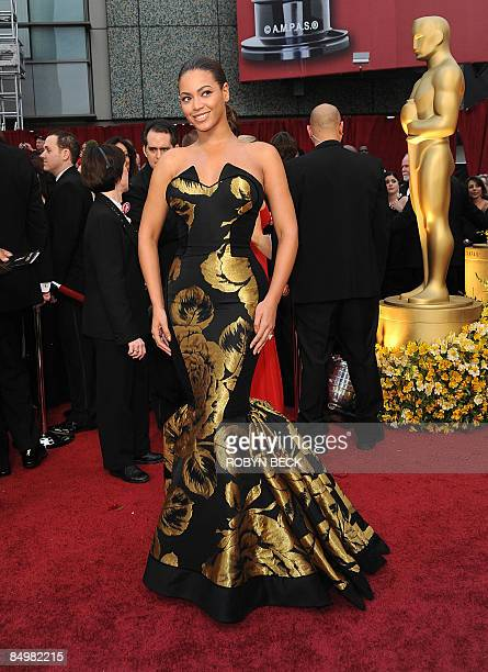 Singer Beyonce arrives at the 81st Academy Awards at the Kodak Theater in Hollywood, California on February 22, 2009. AFP PHOTO Robyn BECK