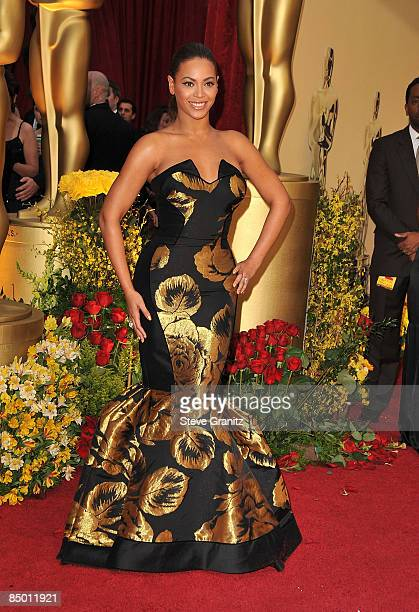 Singer Beyonce arrives at the 81st Annual Academy Awards held at The Kodak Theatre on February 22 2009 in Hollywood California