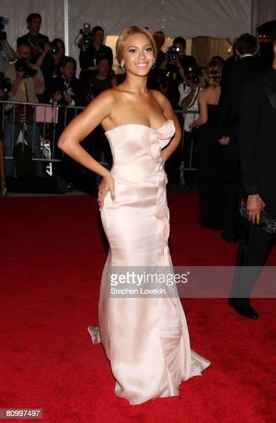 Singer Beyonce arrives at the Metropolitan Museum of Art Costume Institute Gala Superheroes Fashion and Fantasy held at the Metropolitan Museum of...