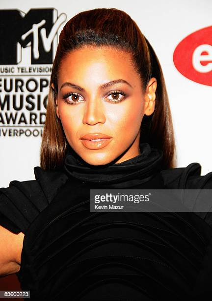 Singer Beyonce arrives for the 2008 MTV Europe Music Awards held at at the Echo Arena on November 6 2008 in Liverpool England