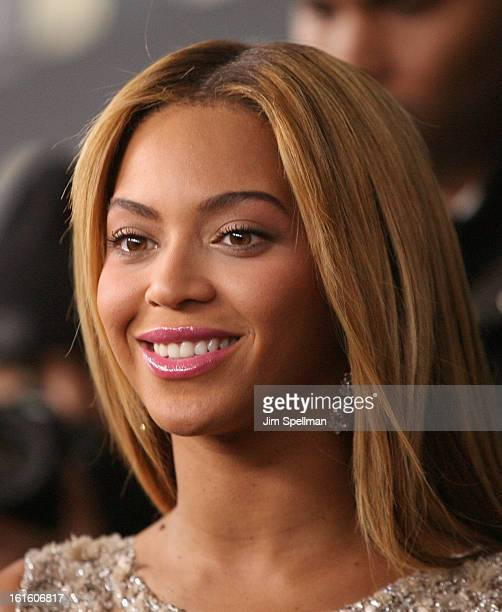 Singer Beyonce attends Beyonce Life Is But A Dream New York Premiere at Ziegfeld Theater on February 12 2013 in New York City