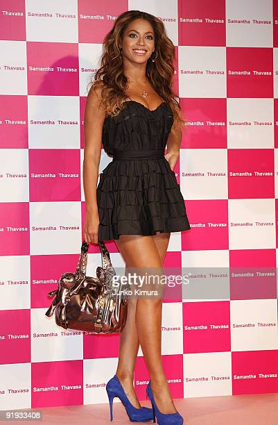 Singer Beyonce attends 'Samantha Thavasa / Special Meet and Greet with Beyonce' at Studio Mouris Roppongi on October 16 2009 in Tokyo Japan