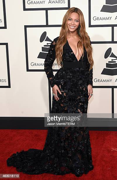 Singer Beyonce attends The 57th Annual GRAMMY Awards at the STAPLES Center on February 8 2015 in Los Angeles California
