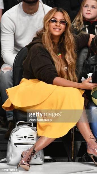 Singer Beyonce attends The 67th NBA AllStar Game Team LeBron Vs Team Stephen at Staples Center on February 18 2018 in Los Angeles California