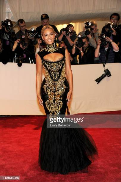 Singer Beyonce attends the Alexander McQueen Savage Beauty Costume Institute Gala at The Metropolitan Museum of Art on May 2 2011 in New York City