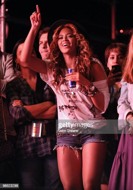 Singer Beyonce during Day 1 of the Coachella Valley Music Art Festival 2010 held at the Empire Polo Club on April 16 2010 in Indio California