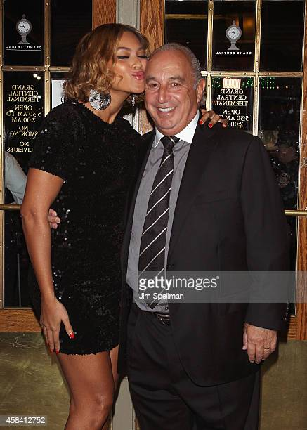 Singer Beyonce Knowles and Sir Philip Green attend the Topshop Topman New York City Flagship Opening Dinner at Grand Central Terminal on November 4,...