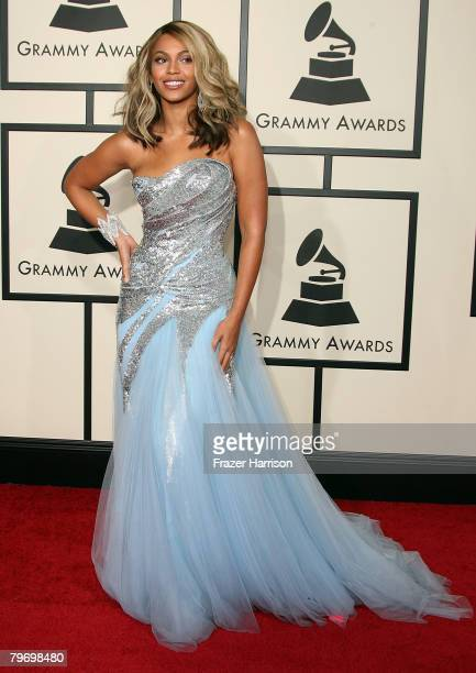 Singer Beyonce Knowles arrives at the 50th annual Grammy awards held at the Staples Center on February 10 2008 in Los Angeles California