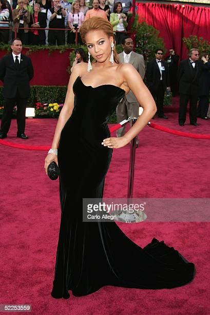 Singer Beyonce Knowles arrives at the 77th Annual Academy Awards at the Kodak Theater on February 27 2005 in Hollywood California