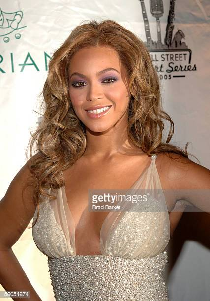 Singer Beyonce Knowles arrives for The Cipriani Wall Street Concert Series at Cipriani Wall Street on November 1 2005 in New York City