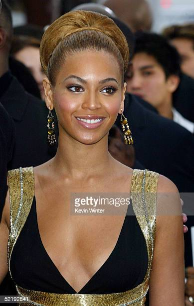 Singer Beyonce Knowles arrives to the 47th Annual Grammy Awards at the Staples Center on February 13 2005 in Los Angeles California