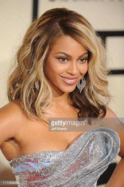 Singer Beyonce Knowles arrives to the 50th Annual GRAMMY Awards at the Staples Center on February 10 2008 in Los Angeles California