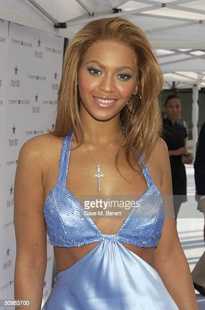 Singer Beyonce Knowles attends a launch party to unveil the new Tommy Hilfiger women's fragrance inspired by the singer at The Albion Riverside June...