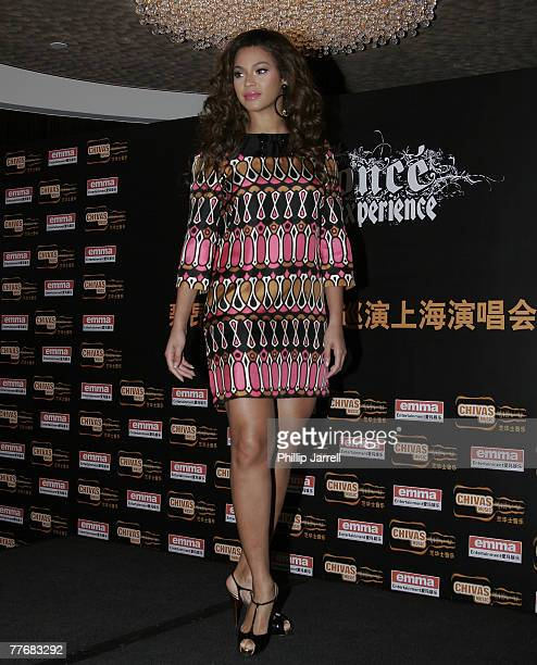 Singer Beyonce Knowles attends a press conference ahead of the first Shanghai concert of her 'Beyonce Experience 2007 World Tour' on November 5 2007...