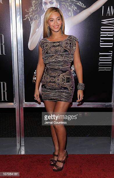 Singer Beyonce Knowles attends a screening of I AMWorld Tour at the School of Visual Arts Theater on November 21 2010 in New York City