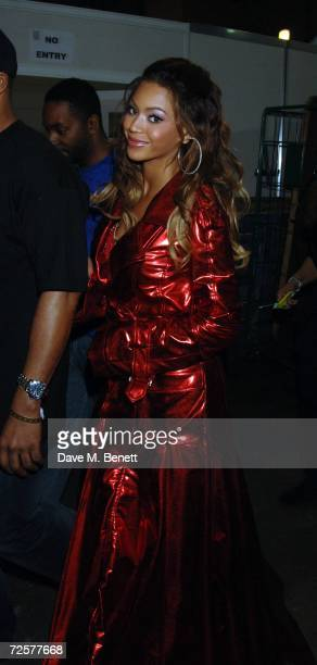 Singer Beyonce Knowles attends backstage at the World Music Awards 2006, at Earls Court on November 15, 2006 in London, England.