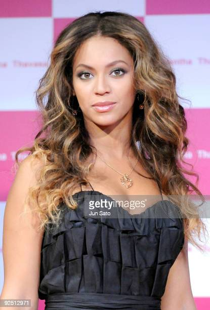 Singer Beyonce Knowles attends 'Samantha Thavasa/Special Meet and Greet with Beyonce' at Studio Mouris Roppongi on October 16 2009 in Tokyo Japan