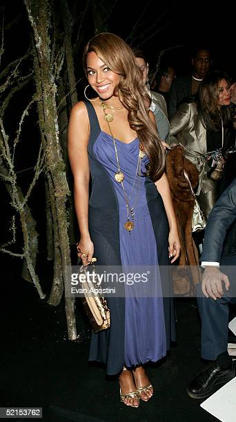 Singer Beyonce Knowles attends the Marc Jacobs Fall 2005 show during Olympus Fashion Week at The Armory February 7, 2005 in New York City.