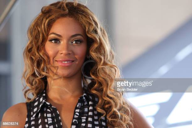 Singer Beyonce Knowles attends the national Show Your Helping Hand hunger relief initiative kickoff at Madison Square Garden on June 22 2009 in New...