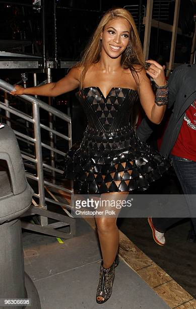 Singer Beyonce Knowles backstage during the 52nd Annual GRAMMY Awards held at Staples Center on January 31 2010 in Los Angeles California