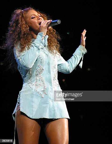 Singer Beyonce Knowles headlines at the WGCI Big Jam at the United Center December 19 2003 in Chicago