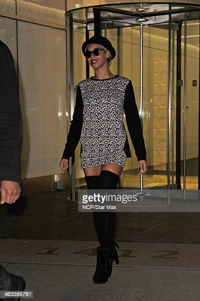 Singer Beyonce Knowles is seen on January 17 2014 in New York City
