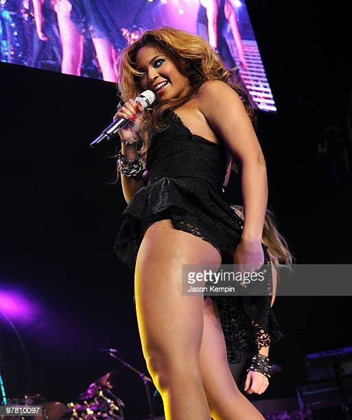 Singer Beyonce Knowles performs at Madison Square Garden on March 17 2010 in New York City