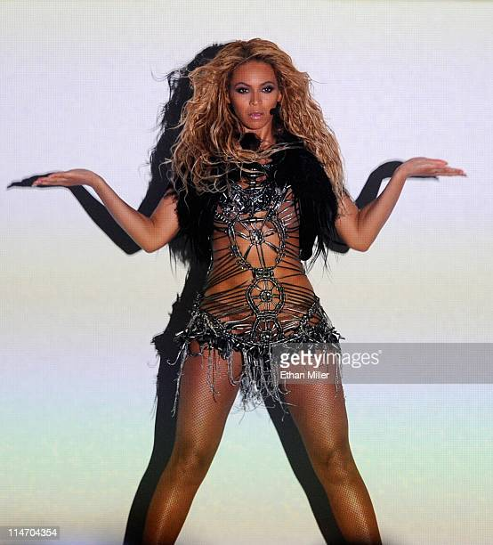 Singer Beyonce Knowles performs during the 2011 Billboard Music Awards at the MGM Grand Garden Arena May 22 2011 in Las Vegas Nevada