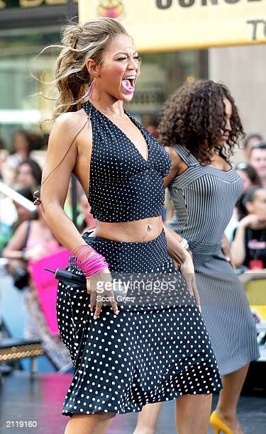 Singer Beyonce Knowles performs live for the NBC Today Show Summer Concert Series June 27 2003 outside at the NBC Rockefeller Center Studios in New...
